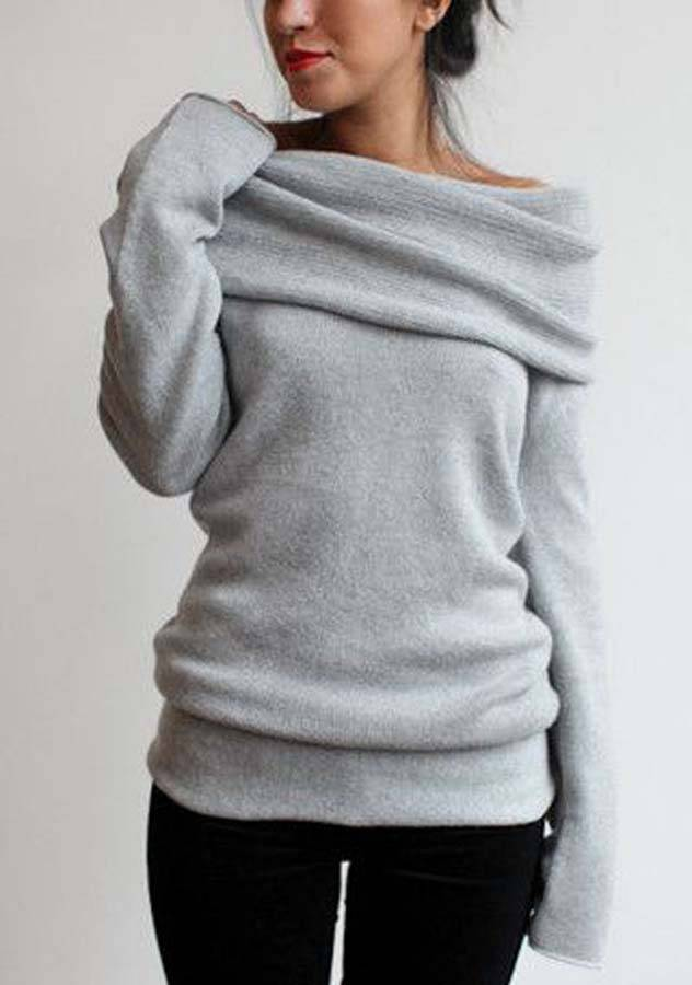 One Shoulder Long Sleeve Warm T-Shirt