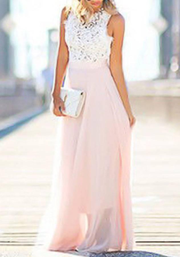 Maxi dress white sleevess