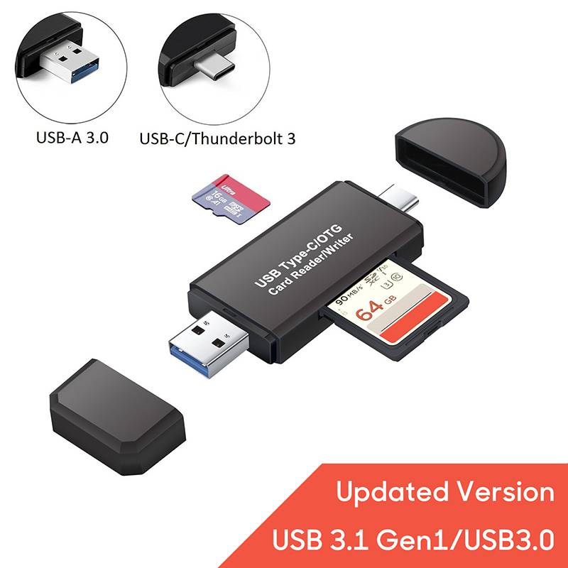 Details about Type-C USB 3.0 Micro SD Card Reader OTG Adapter for SDXC SDHC SD MMC TF Micro SD