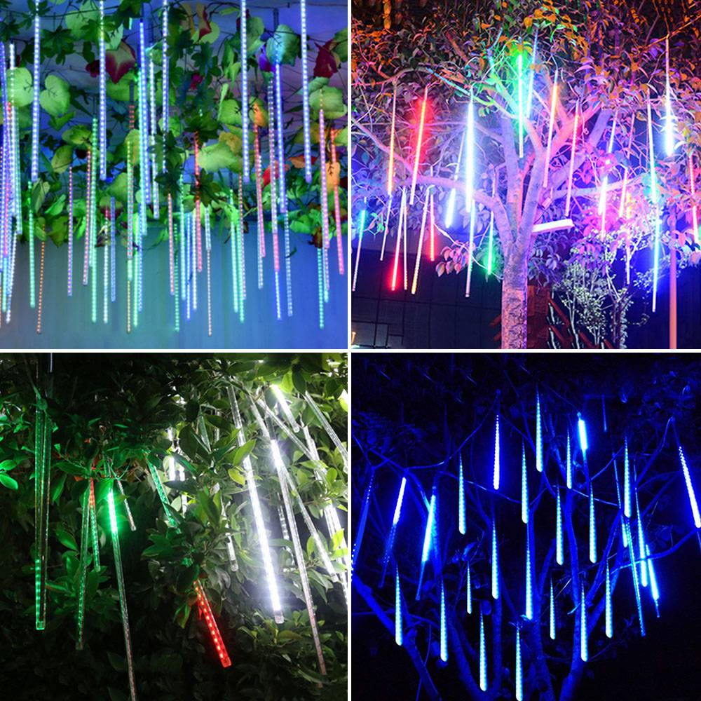 Led Meteor Shower String Tube Lights 11 8 20inch 192