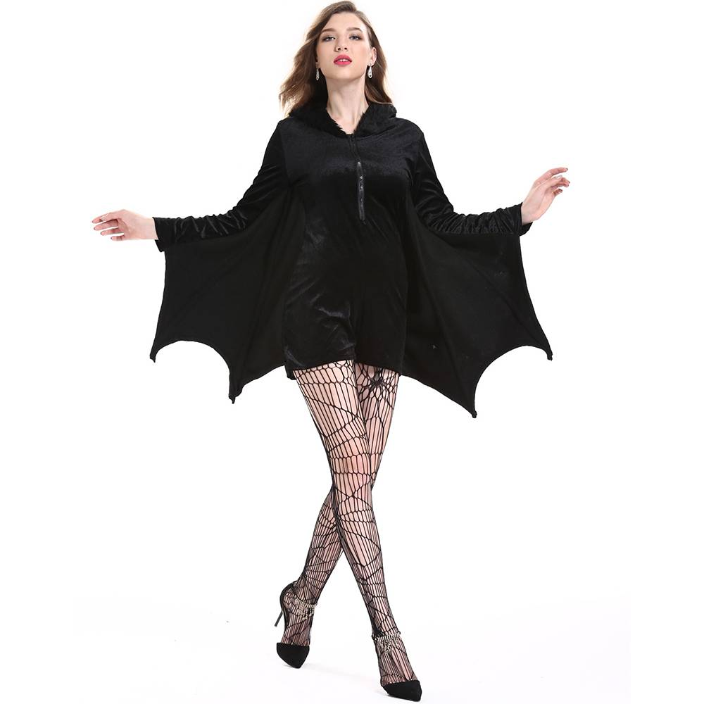 damen vampir fledermaus halloween karneval cosplay kost m overall jumpsuit ebay. Black Bedroom Furniture Sets. Home Design Ideas
