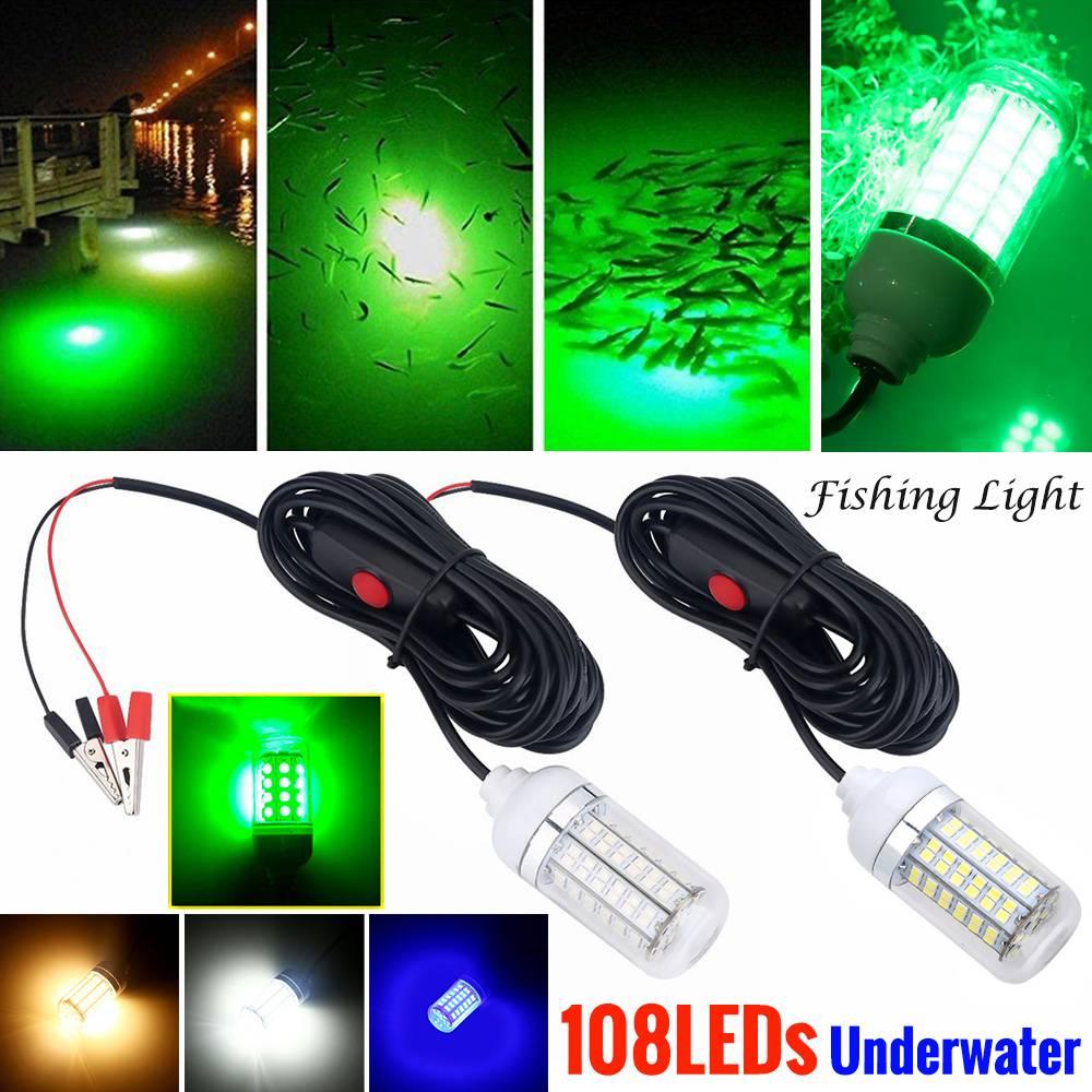 12V 3W Underwater LED Fishing Night Light Boat Lamp Bait Lure Attract Fish Squid