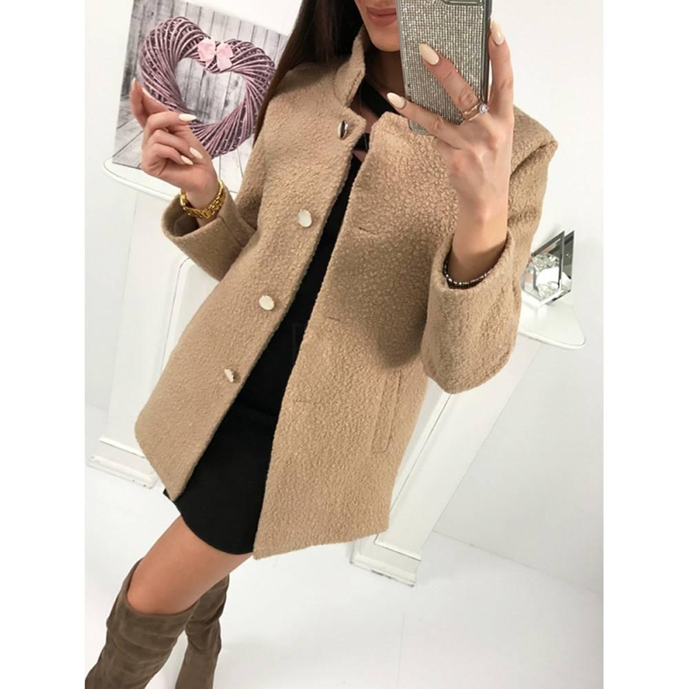 Womens Winter Coat Ladies Fluffy Fur Warm Casual Blazer