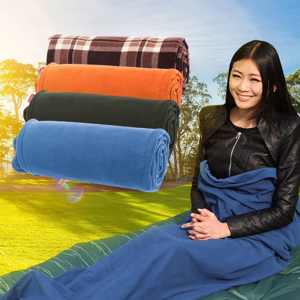 new product 0069a a64b0 Details about Outdoor Sleeping Bag Liner Travel Sleep Sack Sheet Hiking  Camping Blankets Mat