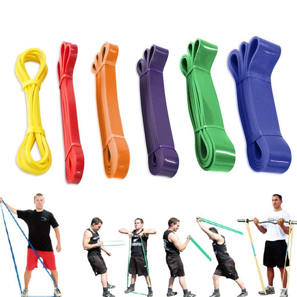 6er-Set Widerstandsbänder Fitnessbänder Gymnastikband Gummibänder Naturlatexband