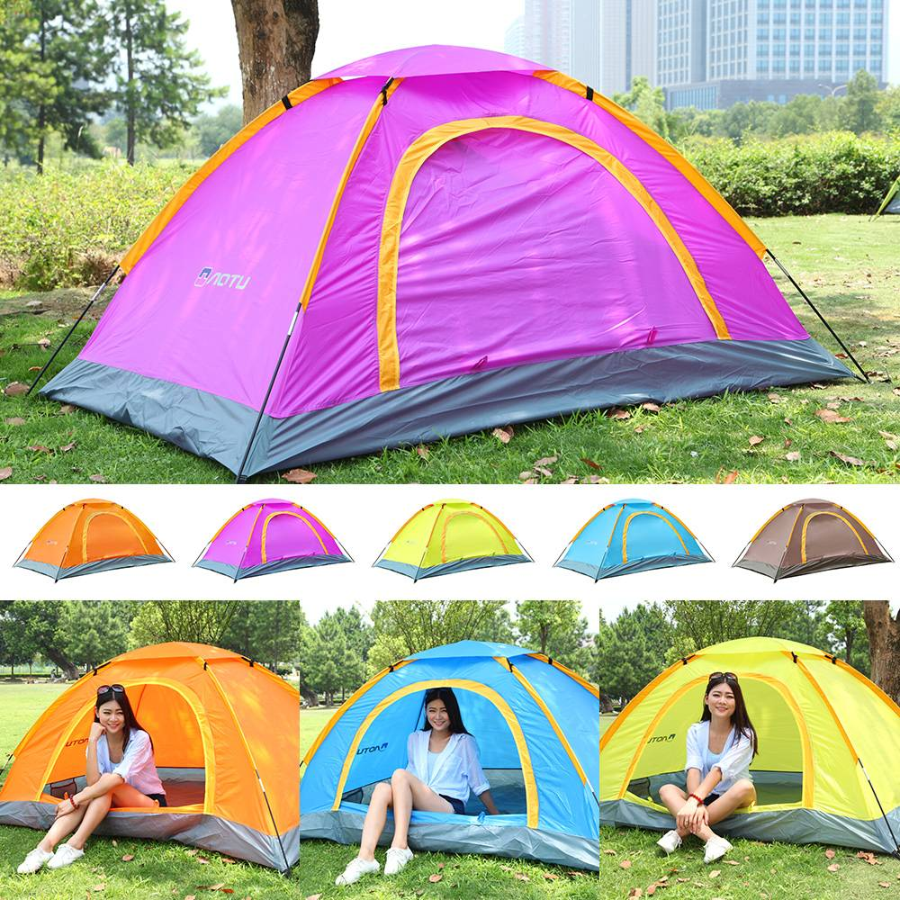 Portable 2 Person 2 Door Folding Throwing Up Outdoor Camping Tent Anti-UV Tents
