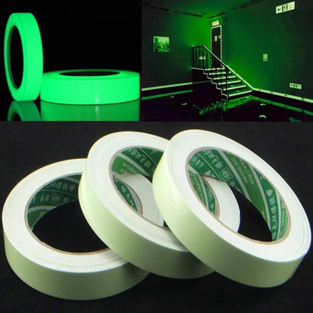 Glow In The Dark Luminous Fluorescent Night Self-adhesive Safety Sticker Tape UK