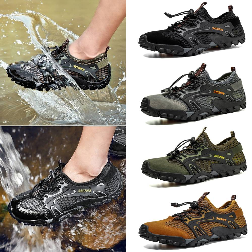 Herren Wandern Sport Schuhe Sneaker Trekking Wandern Outdoor Wasserschuhe DE