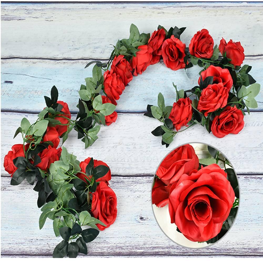 ROSENRANKE Ranke Blumengirlande Rose Rosen Blumenranke Blumenstrauß Kunstblumen