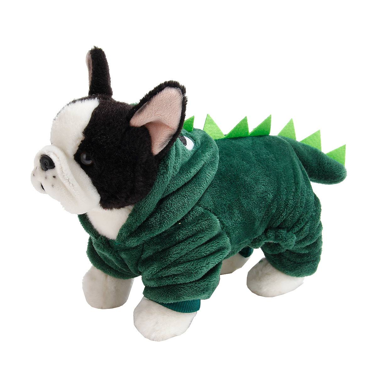 Puppy Dog Funny Pet Clothes Cat Halloween Dinosaur Hoodie Costume Outfit Coat 18