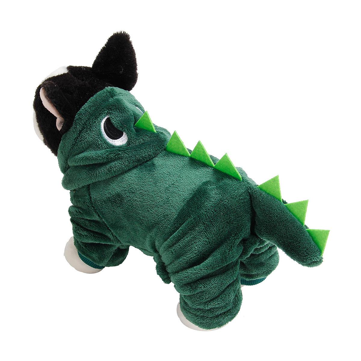 Puppy Dog Funny Pet Clothes Cat Halloween Dinosaur Hoodie Costume Outfit Coat 7
