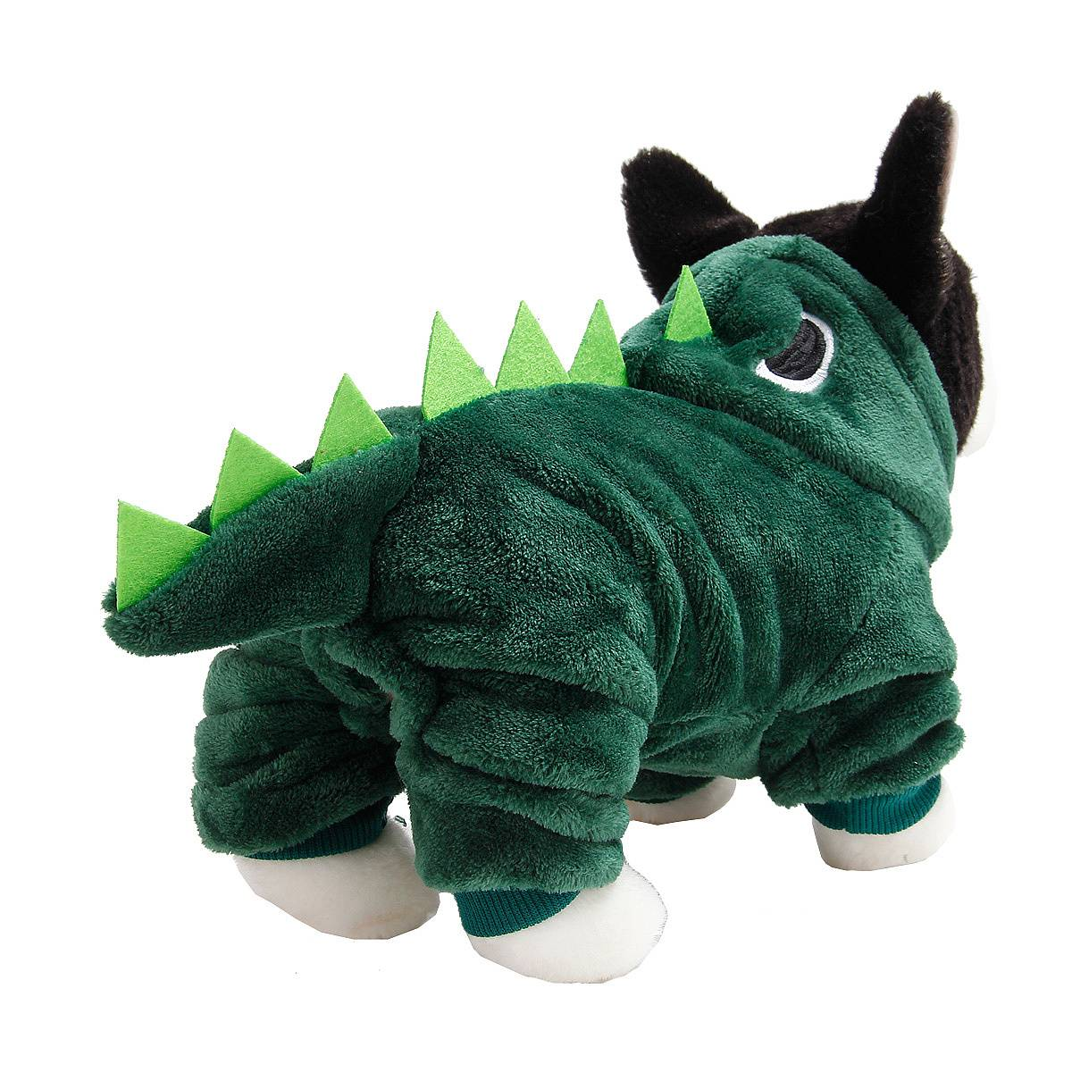 Puppy Dog Funny Pet Clothes Cat Halloween Dinosaur Hoodie Costume Outfit Coat 32