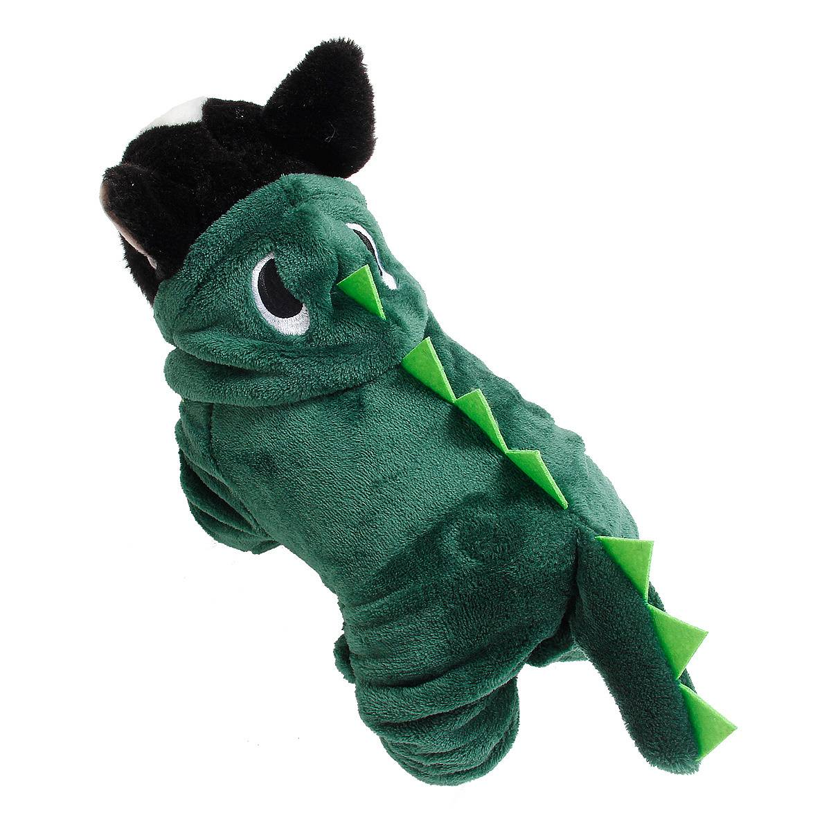 Puppy Dog Funny Pet Clothes Cat Halloween Dinosaur Hoodie Costume Outfit Coat 33