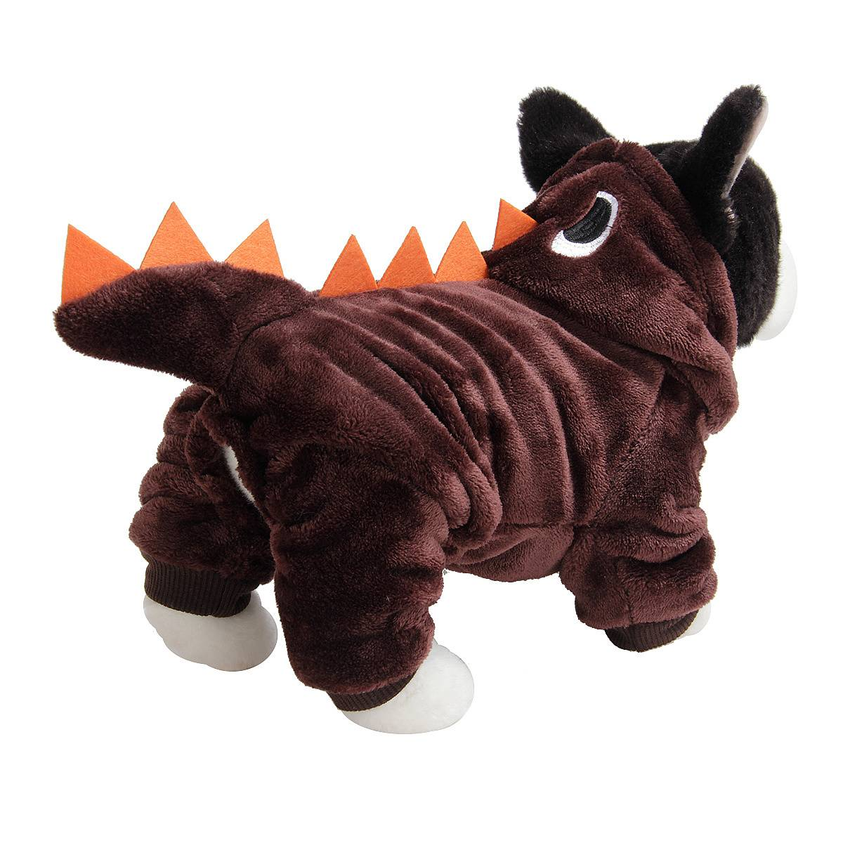 Puppy Dog Funny Pet Clothes Cat Halloween Dinosaur Hoodie Costume Outfit Coat 14