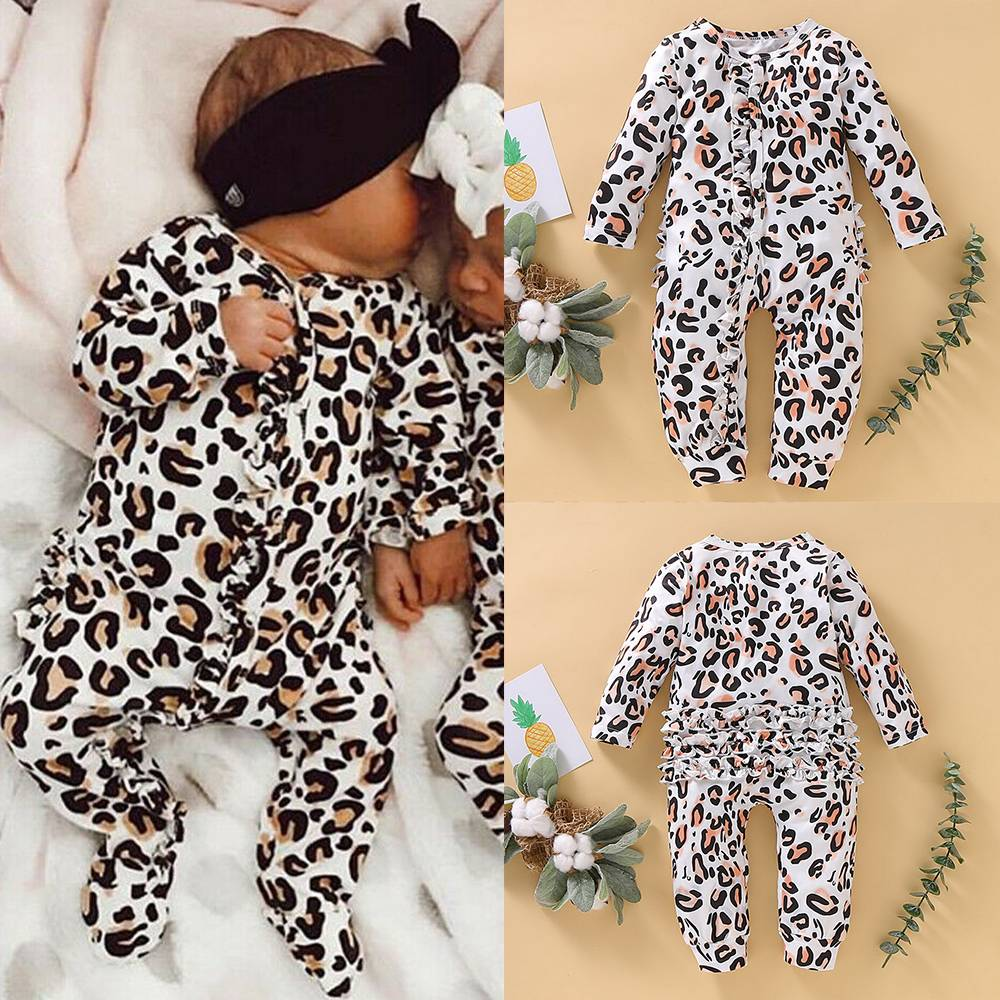 UK Toddelr Girls Baby Ruffle Printed Jumpsuit Playsuit Romper Summer Clothes