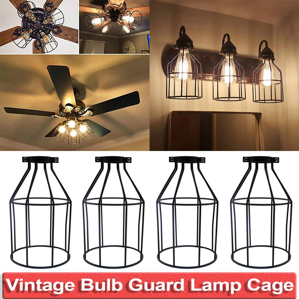 Bulb Cage Guard Iron Vintage Ceiling