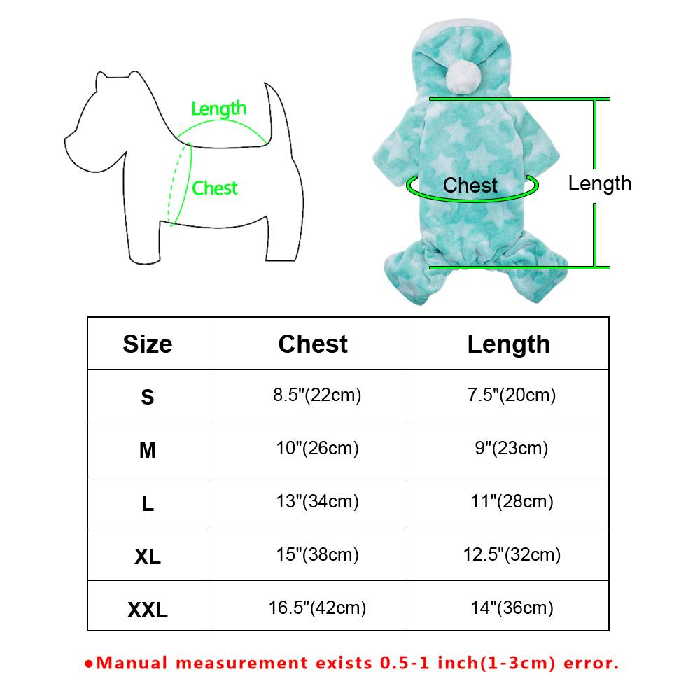 Pet Cute Cat Dog Clothes Jumpsuit Warm Winter Puppy Coat Costume Clothing Outfit 19