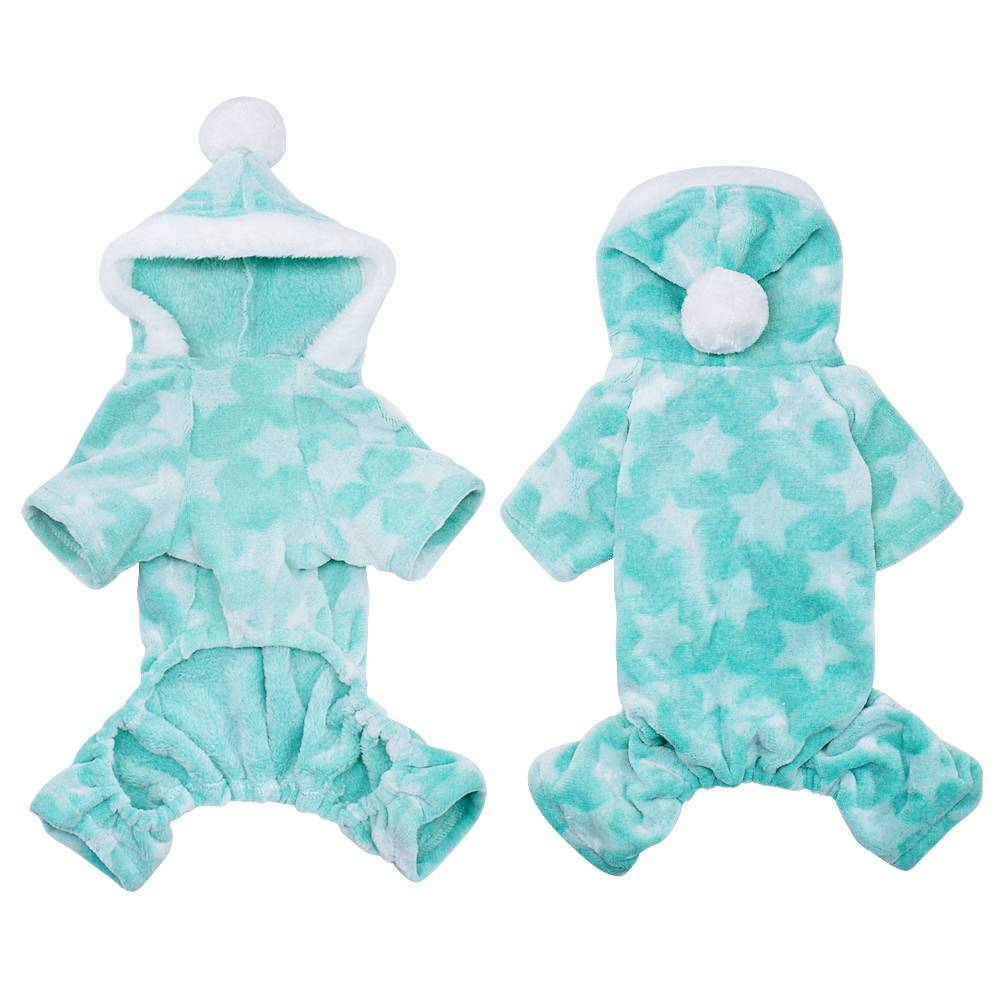 Winter Dog Coats Pet Cat Puppy Chihuahua Clothes Stars Hoodie Warm for Small Dog 8