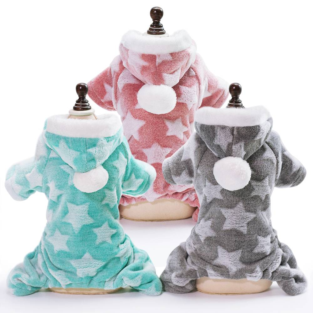 Winter Dog Coats Pet Cat Puppy Chihuahua Clothes Stars Hoodie Warm for Small Dog 10