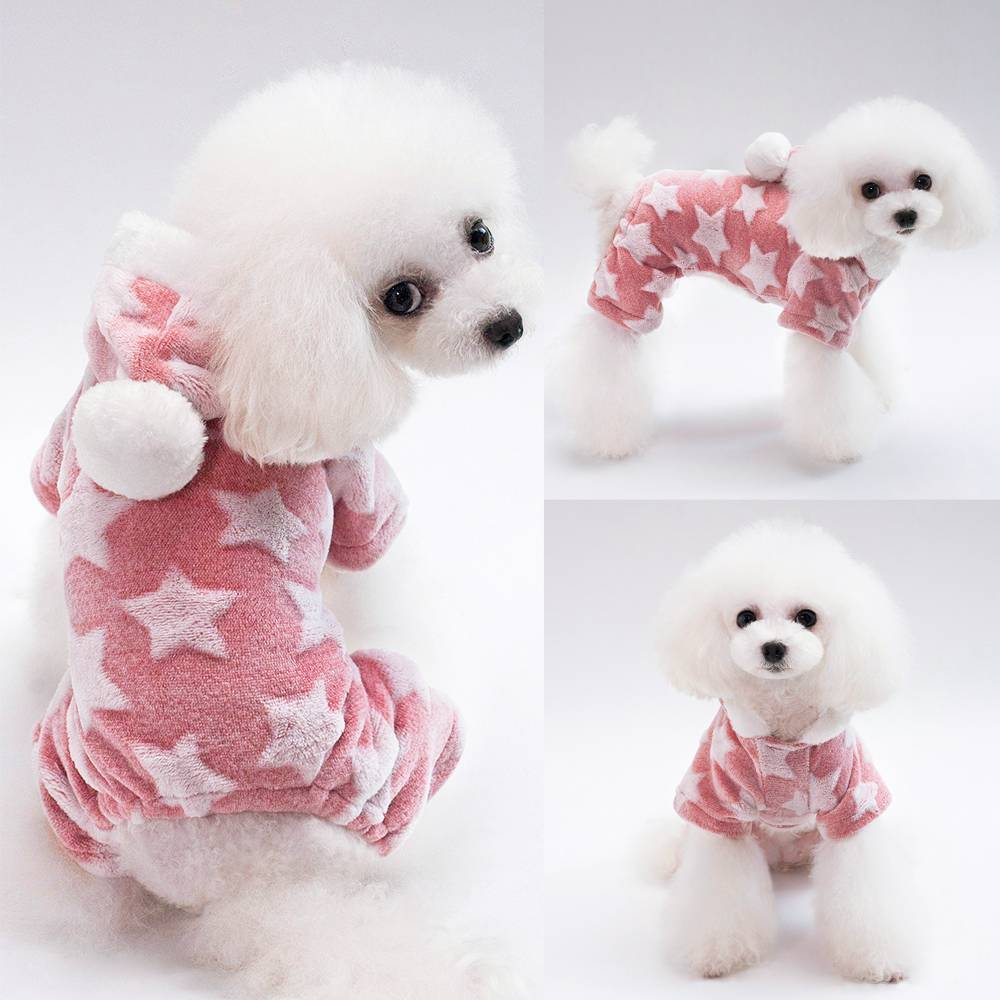 Pet Cute Cat Dog Clothes Jumpsuit Warm Winter Puppy Coat Costume Clothing Outfit 18