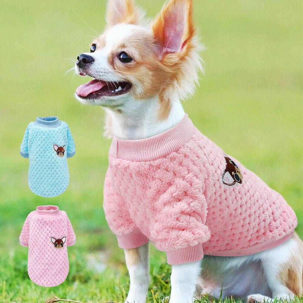 Pet Clothes Knitted Puppy Dog Jumper Sweater For Yorkie Chihuahua Small Dogs Cat 14