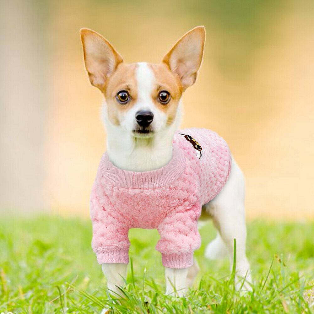 Pet Clothes Knitted Puppy Dog Jumper Sweater For Yorkie Chihuahua Small Dogs Cat 16