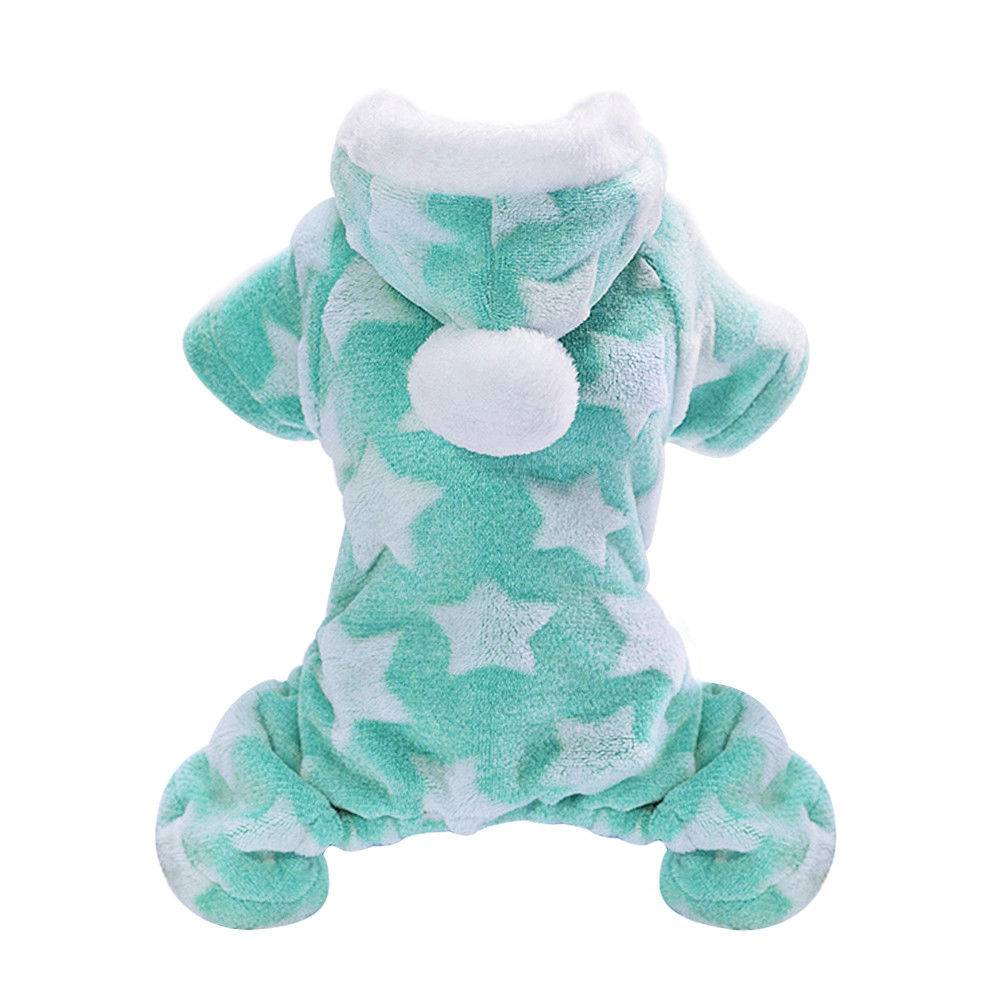 Winter Dog Coats Pet Cat Puppy Chihuahua Clothes Stars Hoodie Warm for Small Dog 14