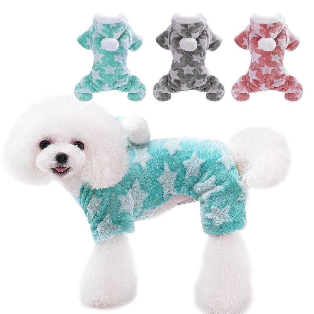 Winter Dog Coats Pet Cat Puppy Chihuahua Clothes Stars Hoodie Warm for Small Dog 12