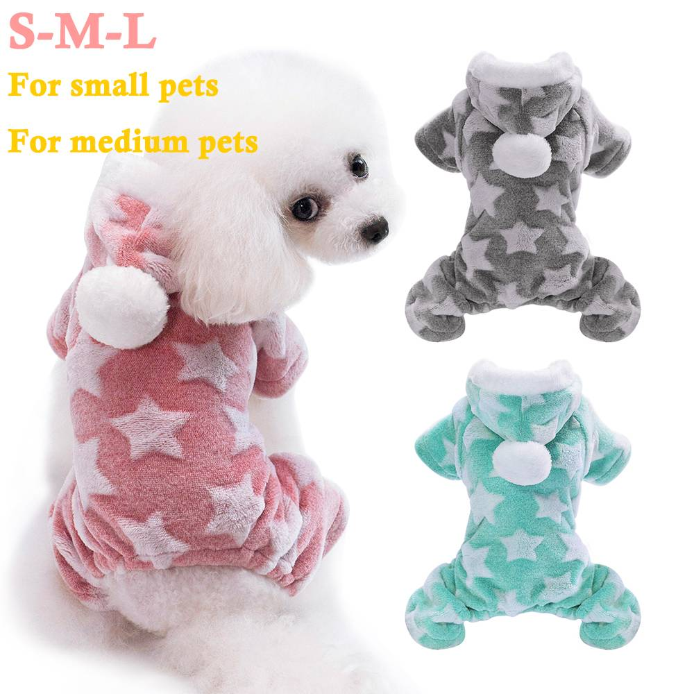 Pet Cute Cat Dog Clothes Jumpsuit Warm Winter Puppy Coat Costume Clothing Outfit 17