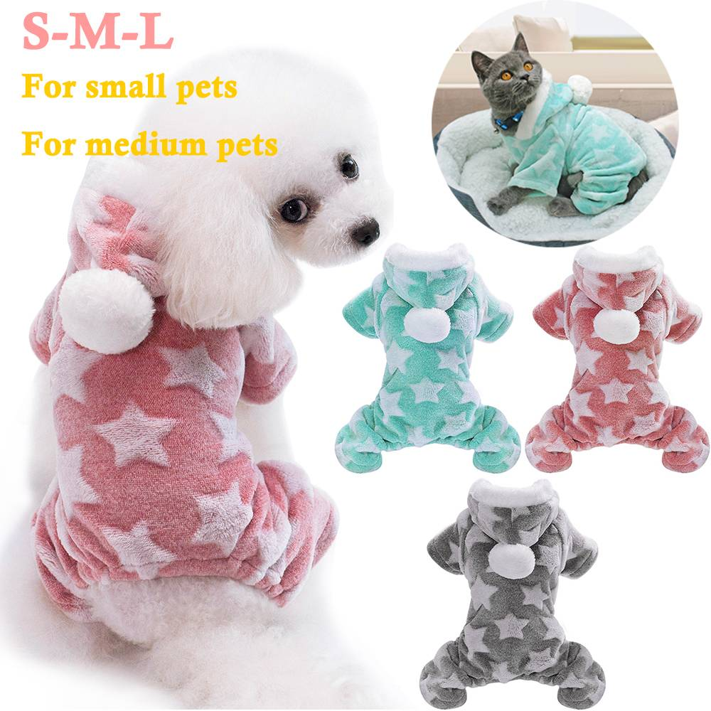 Pet Cute Cat Dog Clothes Jumpsuit Warm Winter Puppy Coat Costume Clothing Outfit 16