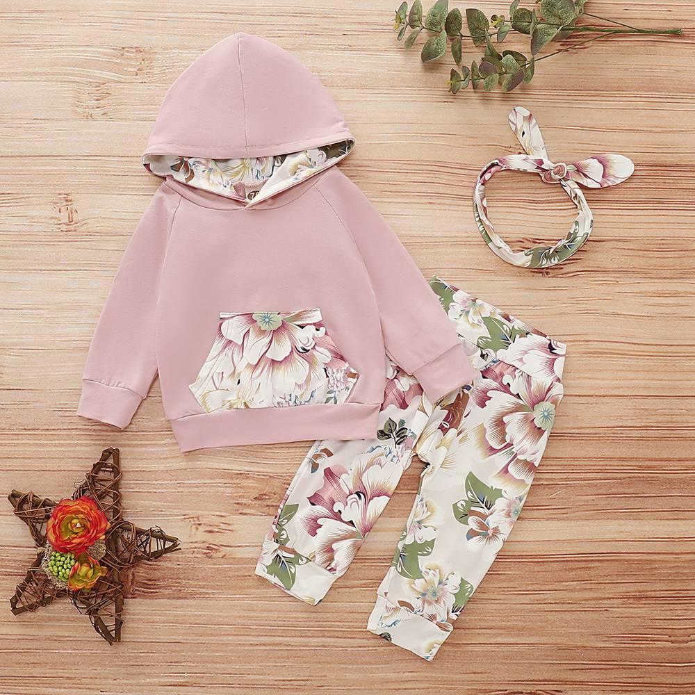 Toddler Baby Girls Hoodies Top Pant Trouser Tracksuit 2Pcs Set Outfits Autumn UK