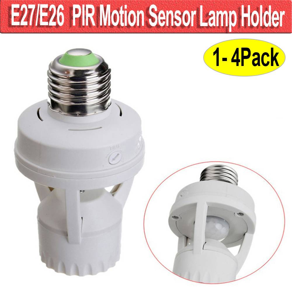 Motion Sensor Light Bulb Lamp Socket
