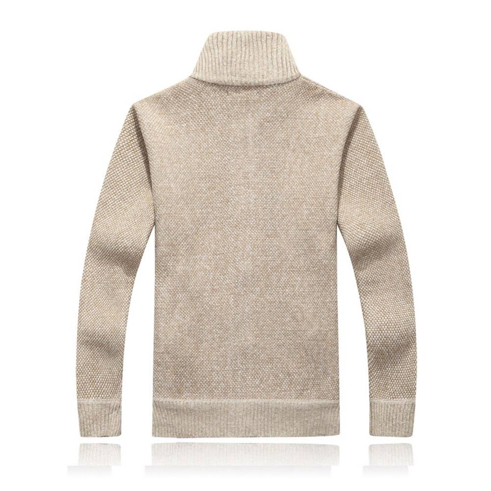❤️ Mens Winter Warm Sweater Knit Cardigan Jumper Zip Up Fleece Lined Coat Jacket