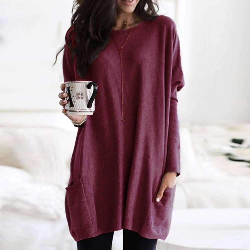 EDTO Autumn European and American Shirt Loose Womens Blouse